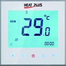 Терморегулятор HEAT PLUS iTeo4 (программируемый сенсорный) белый/черный