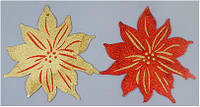 Новогодний декор Пуансетия 30 см