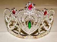 Корона принцессы серебряная со стразами
