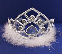 Корона принцессы с пухом и камнями