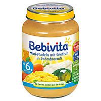 Bebivita  Menü Mini-Nudeln mit Seefisch in Rahmbroccoli - Лапша с рыбой в креме с брокколи с 6 месяцев 190 г