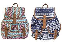 Рюкзак підлітковий для дівчинки ООПТ ГЕОМЕТРИЧНІ УЗОРИ MJ6026, 39 * 27 см