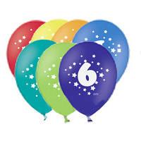 """Воздушный шарик №12 (30см) """"Цифра 6"""" (1103-3069)  /50шт.  Бельгия"""