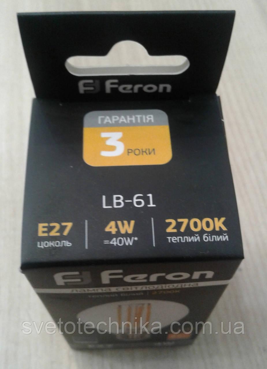 Светодиодная лампа Feron LB-61 4W E27 2700K