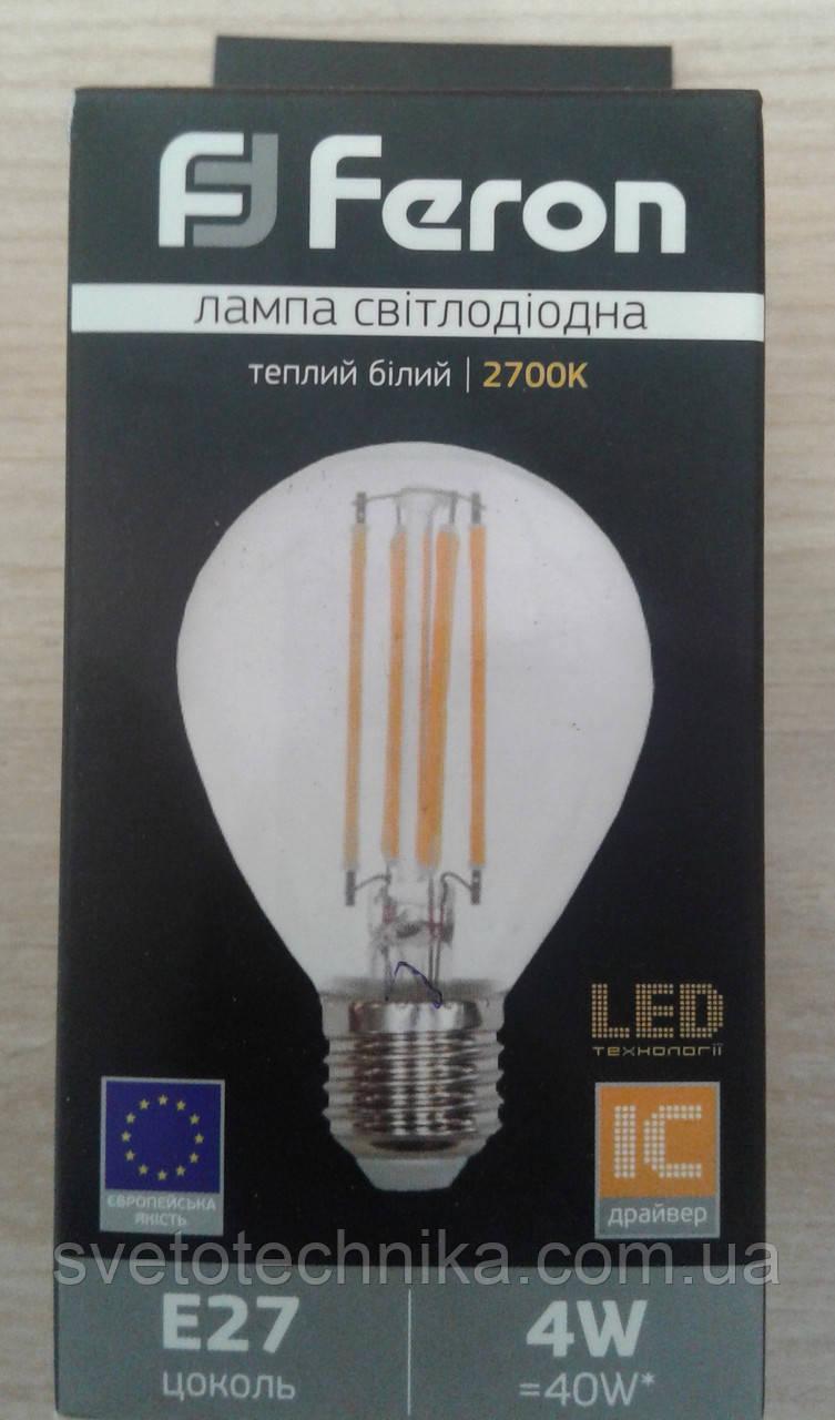 Feron LB-61 4W E27 2700K лампа Эдисона филамент
