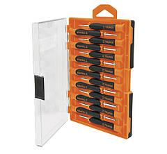 Набор отверток прецизионных 15 единиц (3 ед - шлиц 1,4-2,4; 3 ед - крест PH000-PH1; 6 ед - Torx T5-T10, 3 ед - шестигранный 1,5-2,5 мм)