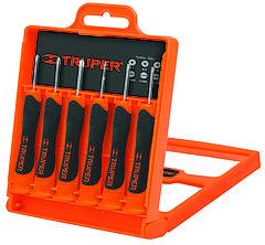 Набор отверток прецизионных 6 единиц (3 ед - шлиц 1,4-2,4; 3 ед - крест PH000-PH1)