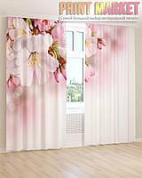 Фото шторы белые и розовые цветки