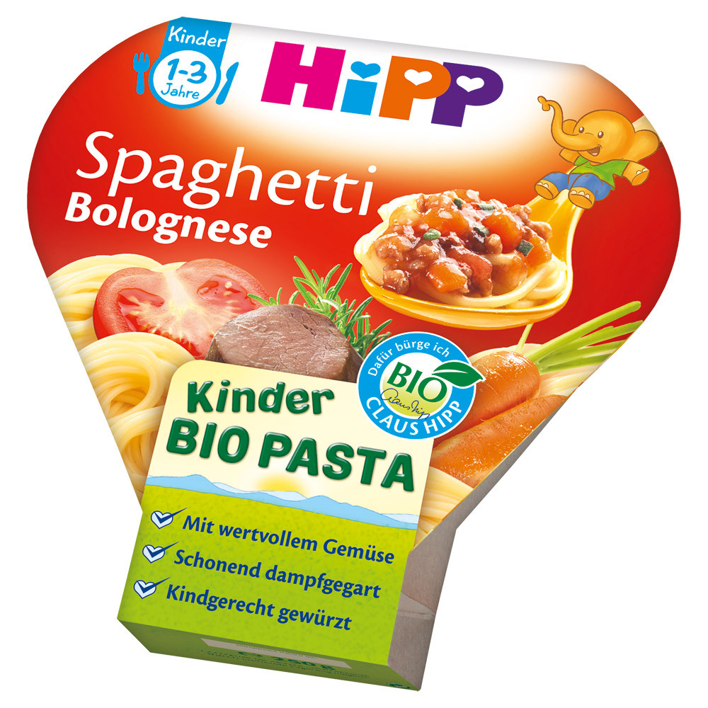 HiPP Детские макароны спагетти болоньезе с 1-3 лет 250 г