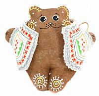 Ведмедик у вишитому кожушку (гречаний)