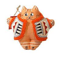 Кіт у вишитому кожушку рудий (гречаний)