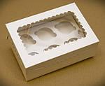 Картонная упаковка для кексов, маффинов, капкейков