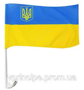Флажок 24х37см Украины  (авто, флажная сетка)