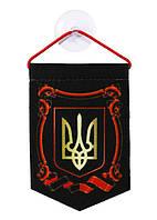 Вымпел Украины  8*11см креп-сатин на присоске ассорти