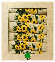 """Лен: Салфетки 30*40 - набор 6шт. """"Цветы"""""""