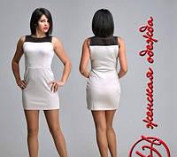 Короткое платье бело-черное