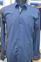 стильная мужская рубашка с длинным рукавом