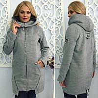 """Стильное кашемировое пальто для пышных дам """" Змейки """" Dress Code"""