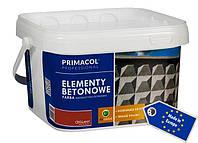 Белая краска для бетонных элементов Primacol 2.5л