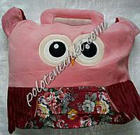 Плед-сумочка детский, розовый, фото 1