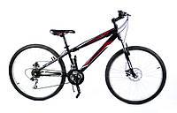 Горный спортивный велосипед 24 дюймов Azimut Extreme FR/D (оборудование SHIMANO) черный-красный ***