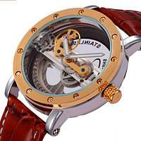 Fuyate Мужские часы Forsining Air Gold