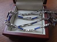 Серебряная цепочка мужская ручной работы Картье