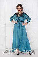 Шикарное велюровое платье   (размеры 48-58 )0044-32