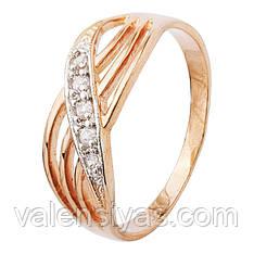 Серебряное кольцо с позолотой К3Ф/013