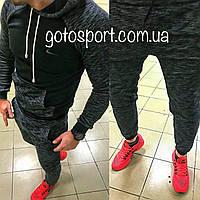 Теплый мужской спортивный костюм Nike на флисе