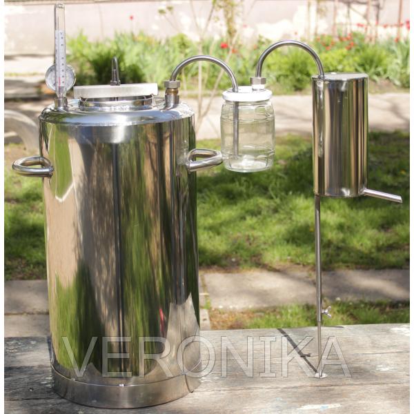 Купить самогонный стеклянный дистиллятор как сделать самогонный аппарат без проточной воды в домашних условиях