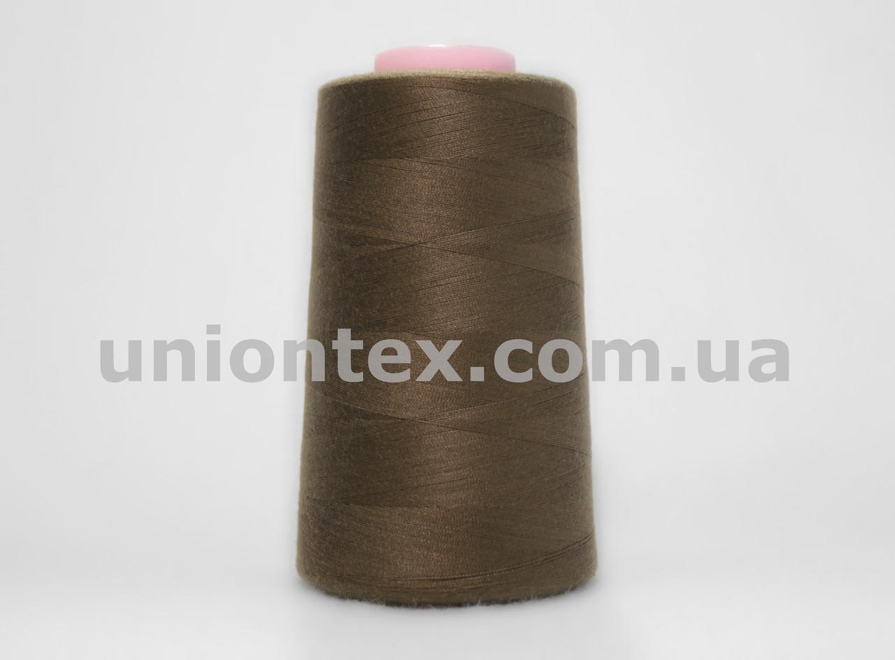 Нитка швейная 777 40/2 коричневая