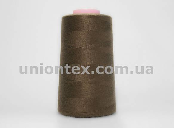 Нитка швейная 777 40/2 коричневая, фото 2