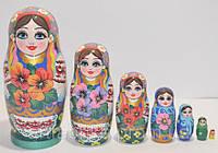 Украинская расписная матрёшка из 7-ми штук маленькая 710