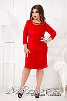 Шикарное платье из велюра    (размеры 52-58 )0044-39, фото 1