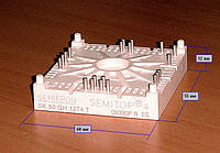 SK50GH12T4T - модуль Semitop 4  (IGBT мост + датчик температуры)