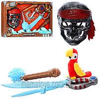 Набор пирата B6618-1-4 маска, меч, булава, звук, свет, светится в темноте