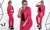 Комплект женский 48+, двойка - пиджак и брюки  , 5 цветов  рт 2221-316
