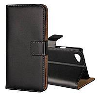 Чехол книжка для LG Q6 M700 боковой с отсеком для визиток, ICOVERCASE, черный