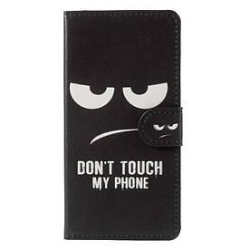 Чехол книжка для Lenovo K8 боковой с отсеком для визиток, Don`t Touch My Phone