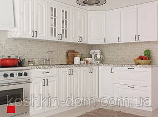 Кухня угловая модульная Amore Classic белый 3,0*1,8 м MDF крашенный мат