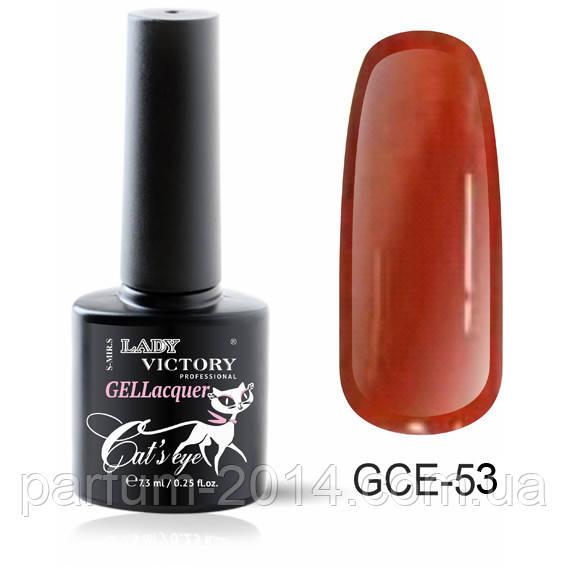 Магнитный гель лак для ногтей кошачий глаз плотный насыщенный яркий GCE-053