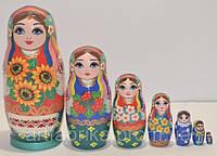 Украинская расписная матрёшка 7-ми штук маленькая 714