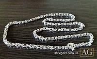 Мужская серебряная цепочка плетениеBaraka
