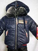 Зимний детский комбинезон Арктика  для мальчика на 1-2 года, 3- 4 года