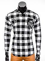 Мужская в клетку Рубашка R369 L, Черный