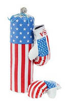 Боксеркий набор Америка Средний Груша + перчатки