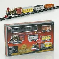 Железная дорога 0606 (24) музыка, свет, поезд, 3 вагона, на батарейке, в коробке
