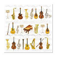 """Декупажная салфетка """"Музыкальные инструменты"""", 33*33 см, 18 г/м2, Ambiente, 13306280"""