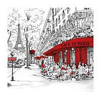 """Декупажная салфетка """"Улица в Париже"""", 33*33 см, 18 г/м2, Ambiente, 13308350"""